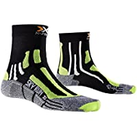 X-Socks Sky Run Two Calza Running, Uomo, Nero (Black/Green Lime/Moulinè), 42/44
