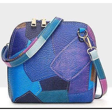SUNNY KEY-Borsa a tracolla @ Donna Borsa a tracolla PU (Poliuretano) Per tutte le stagioni Casual Cerniera Blu Grigio Viola , blue blue