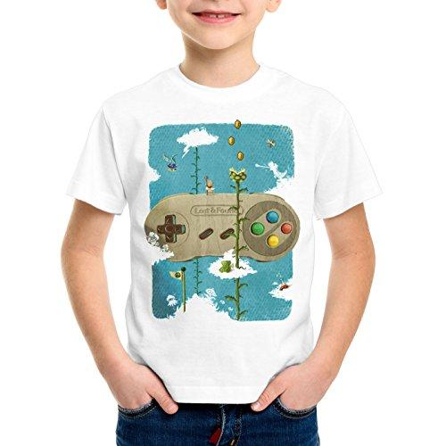 style3 16-Bit Nostalgia Camiseta para Niños T-Shirt snes mario super