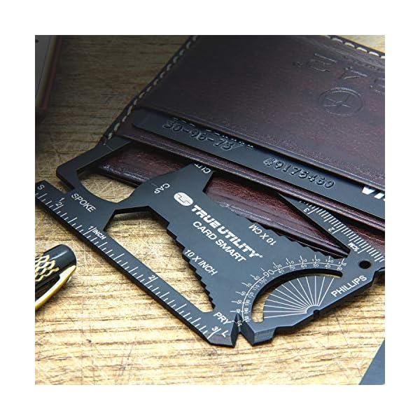 True Utility CardSmart - 30-in-1 Credit Card Multitool, Sleek Minimalist Titanium Coated Stainless Steel Wallet Card EDC 2