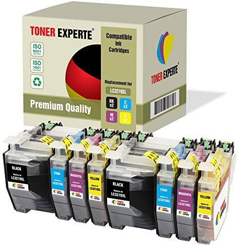 8 XL TONER EXPERTE® Compatibles LC3219XL Cartuchos