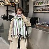 Xizi Mujer Invierno Cáliz Clásico Falda De Cachemira Larga Franja Franja De Borlas Bufanda