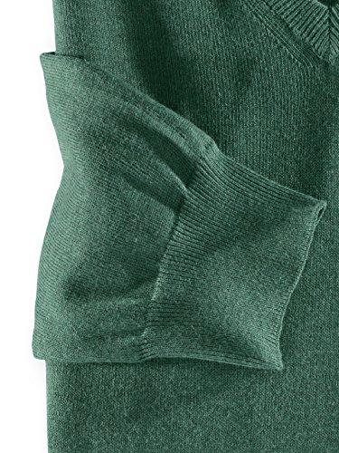 Walbusch Herren Baumwoll-Pullover einfarbig in den Farben Grau, Grün, Orange, Rost, Grau Melange Grün
