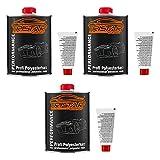 TRISTARcolor 3 Liter Polyesterharz & Härter für Auto Boot Wohnmobil Modellbau laminieren
