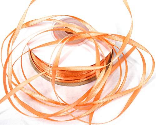 CaPiSo® Schleifenband 3mm 6mm 10mm in unterschiedlichen Längen zur Auswahl (100m 3mm, Apricot)
