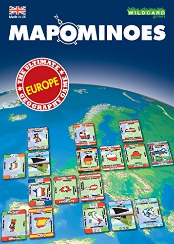 MAPOMINOES EUROPE � The Ultimate Geography Game � Fun and educational travel card game for kids teenagers and adults. Like dominoes with maps.