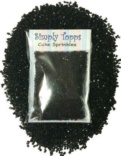 Glänzend Zucker kristallen 30g - cupcake Kuchen Streusel zum Dekorieren (Schwarz)