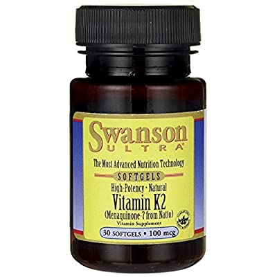 Swanson Ultra High Potency Natural Vitamin K2 100mcg, 30 Softgels by Swanson Health Products