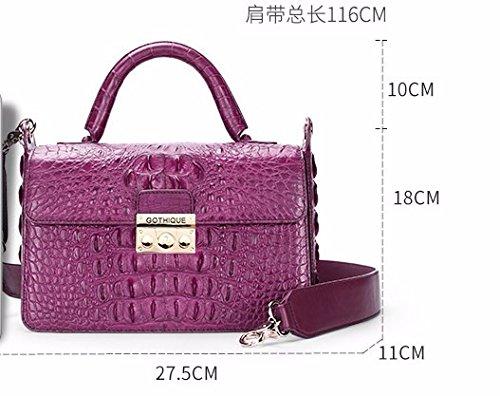 lpkone-Motif crocodile femmes baodan sac à bandoulière sac Messenger sac femme sacs petite partie de blocage Red