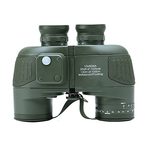 USCAMEL 10X50 Binocolo Militare Bussola Oscillante, Alta Potenza, Alta Definizione, con Bussola e Telemetro