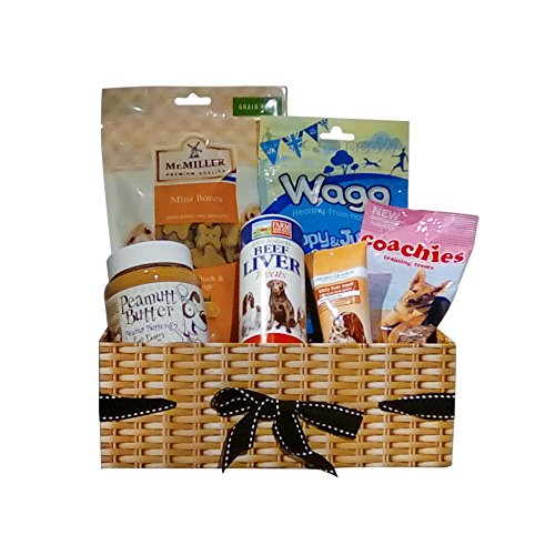 New Puppy Dog Gift Hamper Basket