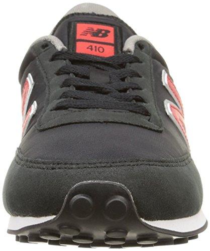 New Balance - U410 D, Sneaker Unisexe - Adulte Nero (noir (cpb Noir / Rouge))
