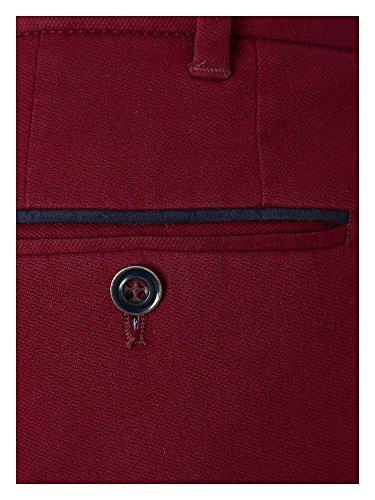 Hiltl Messieurs Pantalon Chino Coupe moderne rouge foncé
