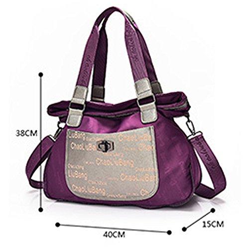 wewod–Borsa a mano Mode Borsa a tracolla Shopper Handtasche Nero un regalo perfetto lila