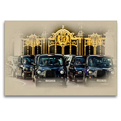 Circus Leinwand (Calvendo Premium Textil-Leinwand 120 cm x 80 cm quer, London Taxi | Wandbild, Bild auf Keilrahmen, Fertigbild auf echter Leinwand, Leinwanddruck Orte Orte)