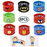 RioRand Superheld Slap Armbänder Party Favor Kostüm Capes für Kinder (8pcs von Schlagarmband)