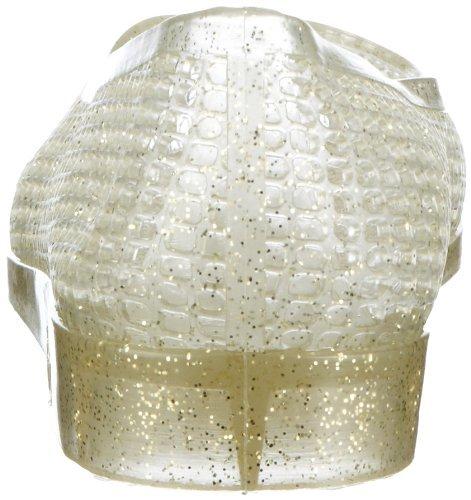 fashy® Damen Ballerina-Slipper mit Keilabsatz ideal für Strand und Freizeit in Weiß oder Gold-Glitzer erhältlich - (Made In Germany) Gold-Glitzer