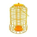 Vivo Hanging feeder Squirrel Proof Guard Bird Fat Ball Seed Nut feeding GardenTray[Yellow (Fat Ball)]
