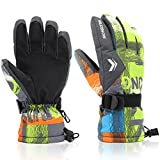 Ski Gloves,RunRRIn Winter Warmest Waterproof and Breathable Snow Gloves for Mens,Womens,Ladies and Kids