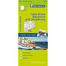 Michelin Costa Brava, Barcelona und Umgebung: Straßen- und Tourismuskarte 1:150.000 (MICHELIN Zoomkarten)