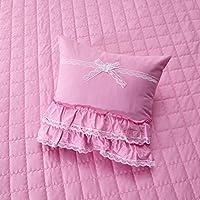 Principessa coreano trapuntato Tombolo/ tinta unita in cotone quadrato throw pillow-C 45x45cm(18x18inch)VersionB