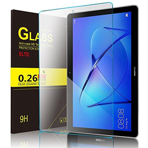 ELTD Huawei MediaPad T3 10 Protection écran, Dureté 9H, 2.5D Bords Arrondis Film Protection d'écran en Verre Trempé pour Huawei MediaPad T3 10.0 Tablette, (1-Pack)