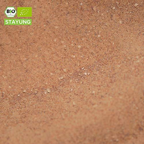 2000g Bio Dattelzucker (Dattelsüße) | 2 kg | 100% aus Bio Deglet Nour Datteln | basisch | Süßkraft vergleichbar mit braunem Zucker | in kompostierbarer Verpackung | STAYUNG -