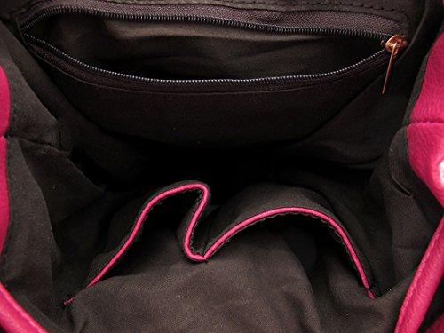 Zeckos , Damen Rucksackhandtasche Rose