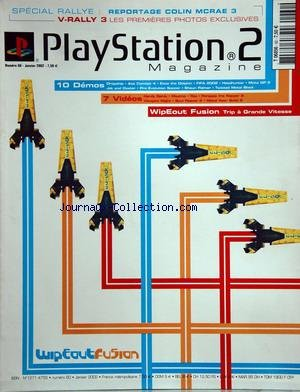 PLAYSTATION 2 MAGAZINE [No 50] du 31/01/2002 - special rally - reportage colin mcrae 3 v rally 3 les premieres photos exclusives 10 demos - dropship - ace combat 4 - ecco the dophin - fifa 2002 - headhunter - moto gp jak and daxter - pro evolution soccer - shaun palmer - twisted metal black 7 videos - hardy gardy - maximo - raz - parappa the rapper 2 - vampire night - soul reaver 2 - metal gear bolid 2 wipeout fusion - trip a grande vitesse wipeoutfusion