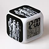 SXWY Sveglia Star Wars Digitale, Colorful Lights Mood Alarm Clock Quartet Disponibile Ricarica USB Adatto A Bambini E Ragazzi Bambini Regali Speciali,8