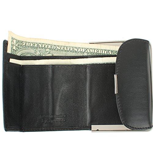 Signore borsa piccolo borsa compatta per Borsa di cuoio in vari colori Nero rosso nero