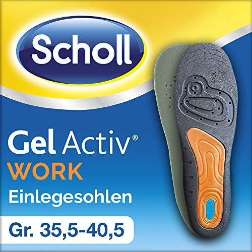 Scholl GelActiv Einlegesohlen Work (für Arbeitsschuhe in 35,5-40,5, für stark beanspruchte Füße, selbstklebende Gelsohlen) 1 Paar
