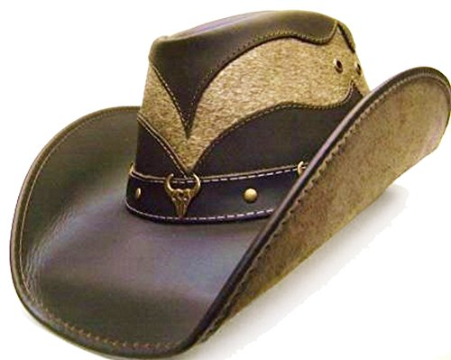 modestone-unisex-leather-cowboy-hat-hair-on-cowhide-section-brown