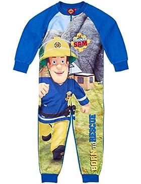 Feuerwehrmann Sam Jungen Jumpsuit (Onesie) - blau
