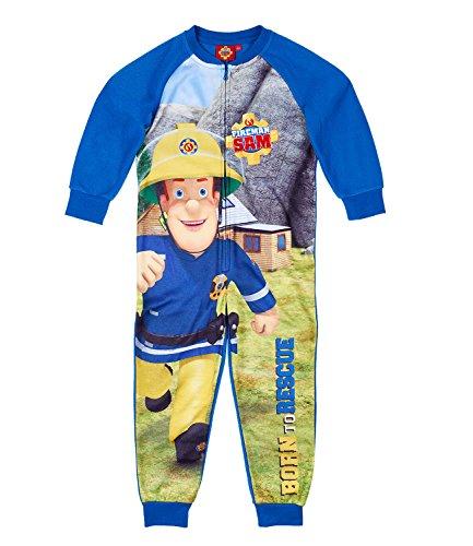 Feuerwehrmann Sam Jungen Jumpsuit - blau - ()