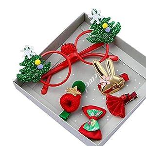 Eudola Kinder Haarspange, Weihnachtsthema Haarnadel Gesetzt Niedlich Haarspange-Set Haarclips Haarklammern Haarschmuck Mädchen und Kinder
