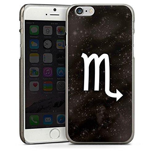 Apple iPhone 6 Housse Étui Silicone Coque Protection Étoiles Scorpion Signes du zodiaque CasDur anthracite clair