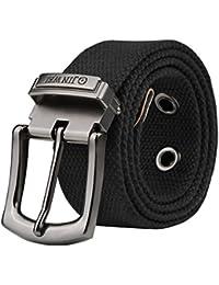 Vbiger Cinturones de Lona Casual Para Hombres 125CM