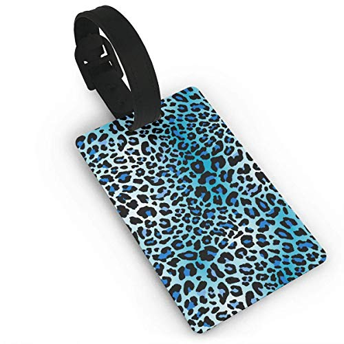 Union Jack Pistolen (Ewtretr Gepäckanhänger for Travel Blue Leopard Grain Luggage Tags Bags Travel Labels for Baggage Suitcase ID Women)