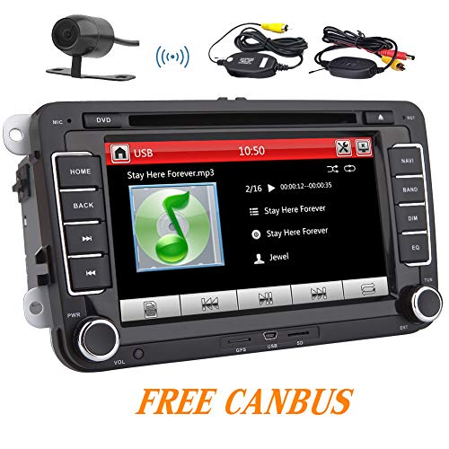 bus 7 Zoll-Auto-Stereo-DVD-Player-Radio im Schlag-Auto GPS Freies Navi für Volkswagen VW Jetta Golf Passat Unterstützung Digital Touch Screen USB Bluetooth AUX + GPS Karten-Karte ()