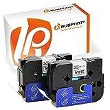 Bubprint 2 Schriftbänder kompatibel für Brother TZE-251 TZE 251 für P-Touch 2430PC 2730VP 3600 9500PC 9700PC D600VP D800W E500VP H500 P700 P750W 24MM