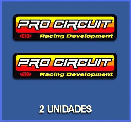 Ecoshirt 0W-R0WR-F696 Pegatinas Stickers Pro Circuit