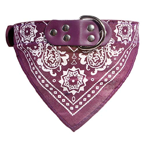 QYQ Hundehalsband Halstuch Gurt Halstuch Dreieck Handtücher Speichel Handtuch Muster Mode Accessoires Welpe Katze Haustierprodukte Katze Lätzchen (Farbe : Lila, größe : XXL)