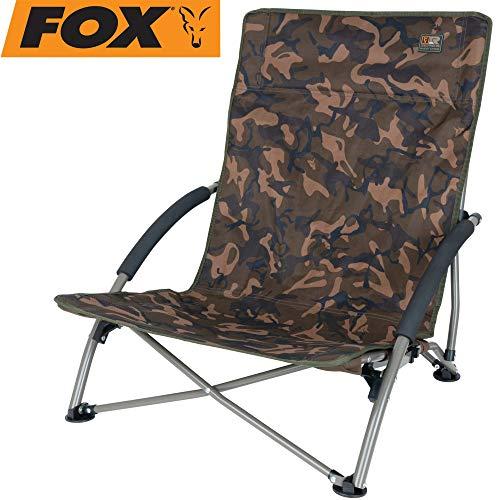 Fox R-Series Guest Chair - Angelstuhl zum Ansitzangeln auf Karpfen, Karpfenstuhl, Stuhl zum Karpfenangeln, Klappstuhl für Angler