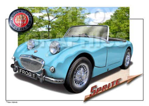 austin-healey-sprite-frogeye-classic-car-print-of-your-car-with-your-number-plate