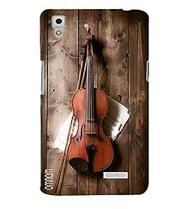 Omnam Guitar Lying On Wooden Designer Back Cover Case For Oppo R7