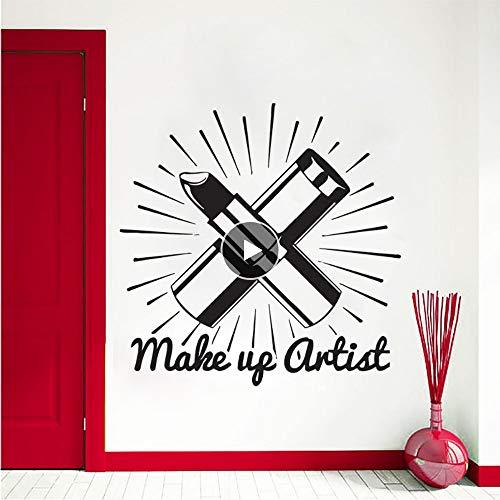 t Wandaufkleber Schönheitssalon Kosmetik Wandtattoo Lippenstift Make Up Wandkunst Wand Schönheitssalon Decor Vinyl Kunst 1080 ()