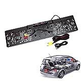 Rokoo HD LCD Car European Nummernschild Rahmen Rückfahrkamera Nachtsicht mit 4 LED Licht