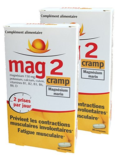 Mag 2 Cramp - Magnésium Marin - Prévient les contractions musculaires involontaires, Fatigue...