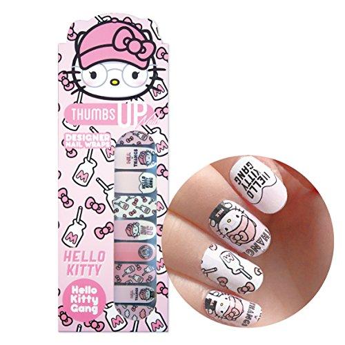 Hello Kitty Special Edition Hello Kitty Gang Nail Wraps By ThumbsUp Nägel/Adhesive/Nail Polish Strips/Full Deckung Nail Art-Sticker/20Packungen pro Pack Hello Kitty Wrap